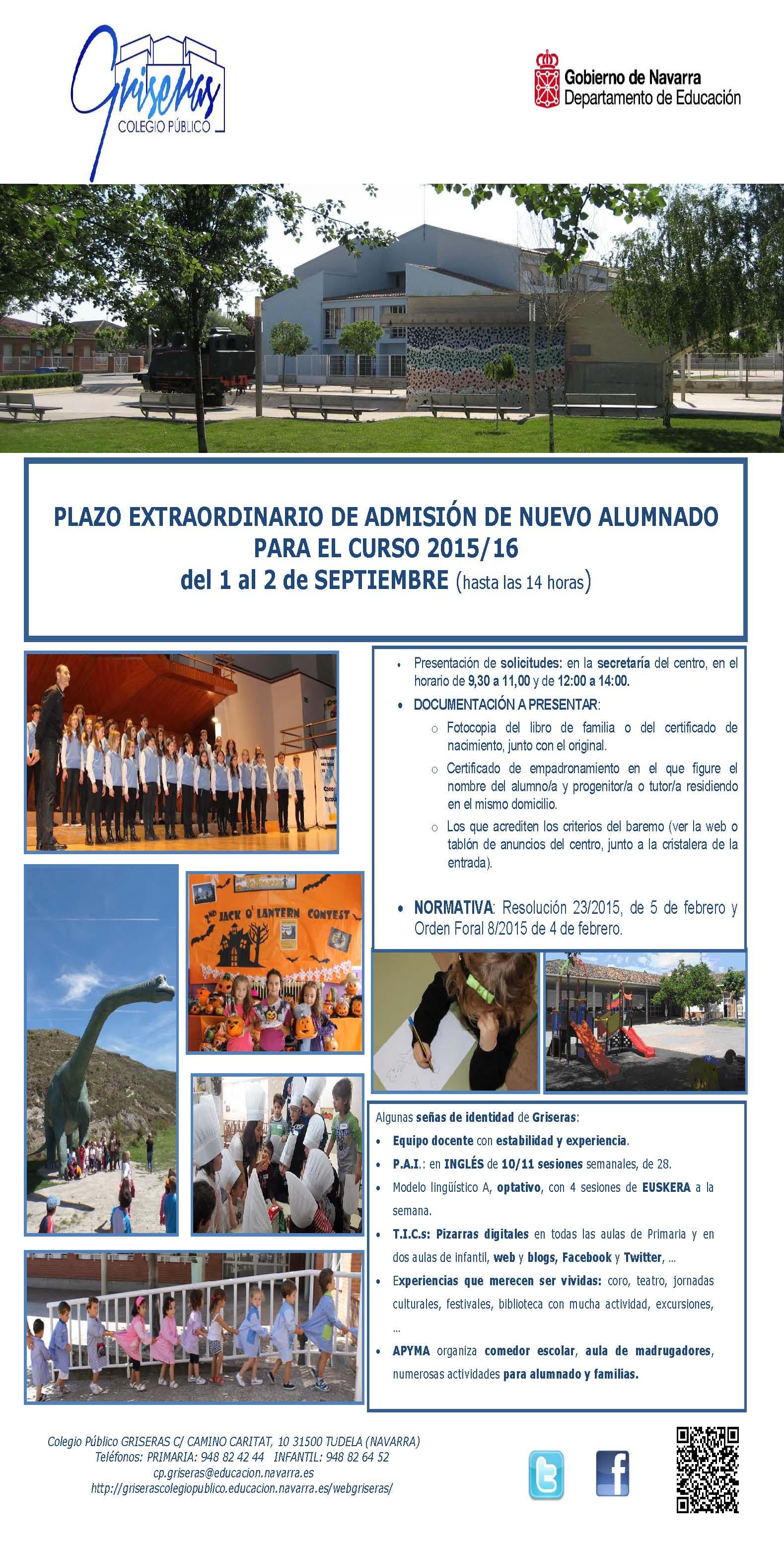 Antigua web del CP Griseras – Copia del sitio web, realizado con Joomla